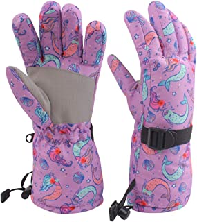 Kids Winter Snow Gloves for Boys Girls Waterproof Ski Toddler Baby Mittens Outdoor for Teens 4-14T