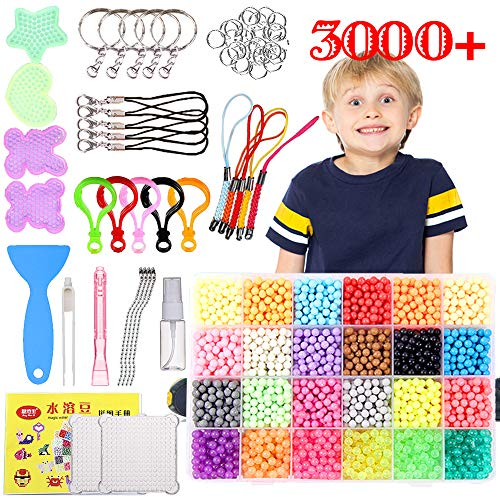 Hslife 4Pack 5mm Fuse Beads Boards,Clear Plastic Pegboards with 4 Lroning Paper,4 Sticky Mat,4 Bead Tweezer Tools for Kids DIY Craft Supplies