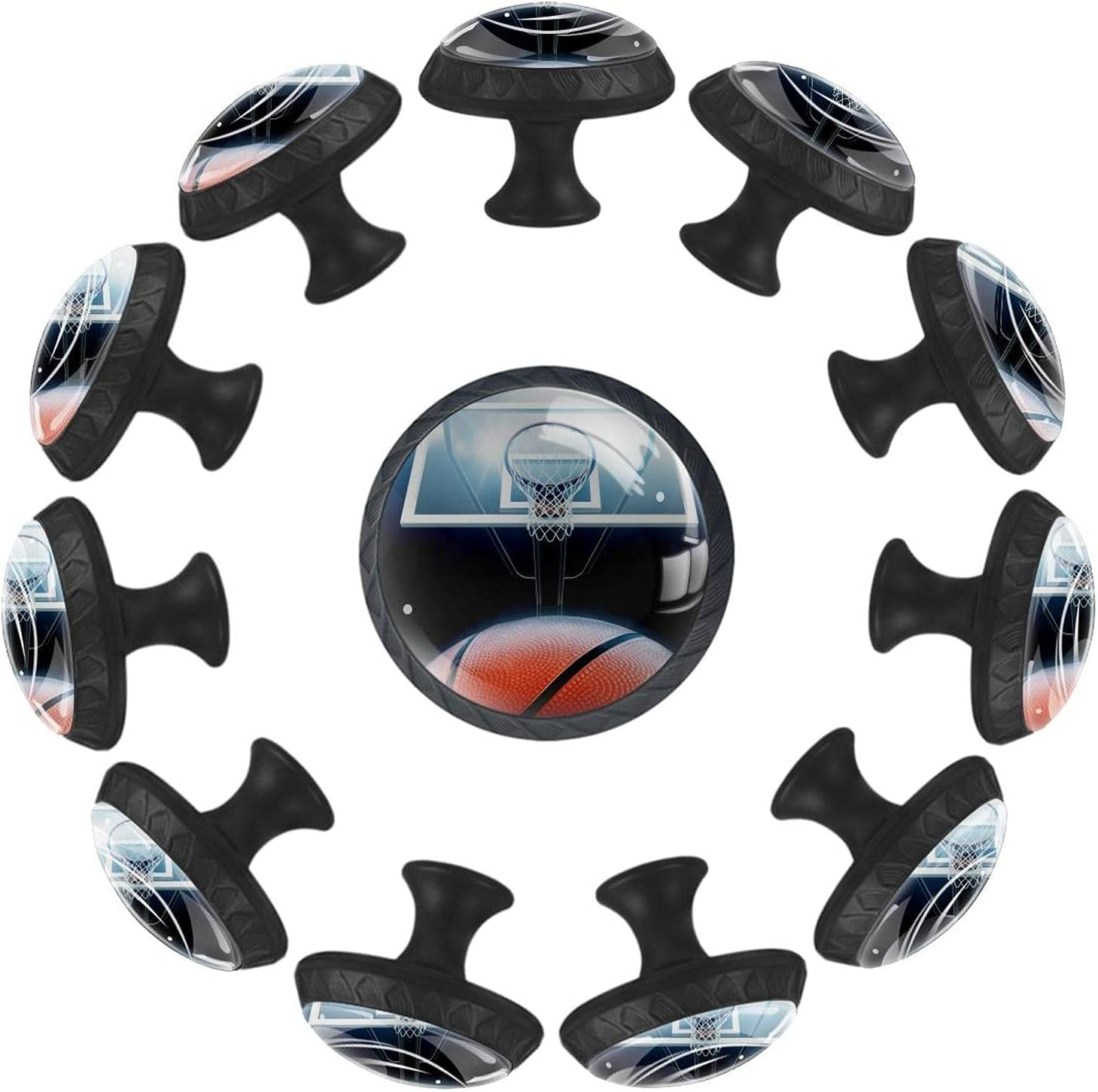Basketball Ranking TOP14 Arena Long-awaited 12PCS Round Drawer Cupboard Handle Knob Pull Kn