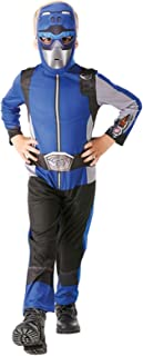 Rubie's Official Power Rangers, Beast Morphers Costume - Blue Ranger Classic Childs Costume Small, 3-4 years