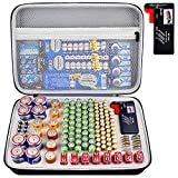 Battery Organizer Storage Case with Tester, Battery Box Holder Garage Container Bag Fits for AA AAA AAAA 9V C D Lithium 3V(Not Includes Batteries)