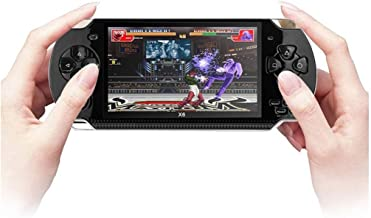 """X6 Mini Arcade Handheld Retro Classic TV Video Games Console Multi-Function System with 4.3"""" Screen Over 999 GAMES, Camera, MP3 Player, Video Player, Voice Recorder – in Black"""