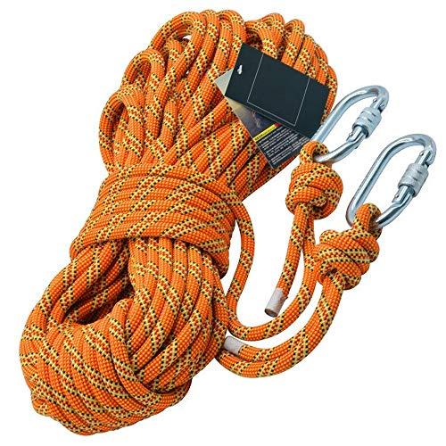 RKY Sicherheitsseil, 11mm Kletterseil Abseilen Seil CE-Zertifizierung Outdoor-Kletter Versicherung Seil Feld Rettung Überleben Schutz Seil Faserseil (Color : 11mm, Size : 20m)