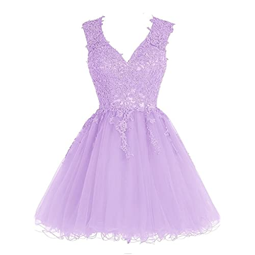 2598087c9b8 Homecoming Dress Short Cocktail Dress Lace Homecoming Dresses Tulle  Appliques Prom Dress V Neck