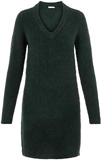 PIECES Pcellen LS V-Neck Knit Dress Noos Vestido para Mujer