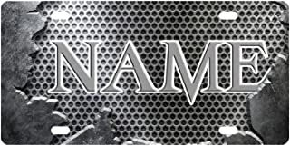Personalized License Plate with Your Name - Custom License Plates Auto Car Tag - Metal Front of Car License Plate Covers