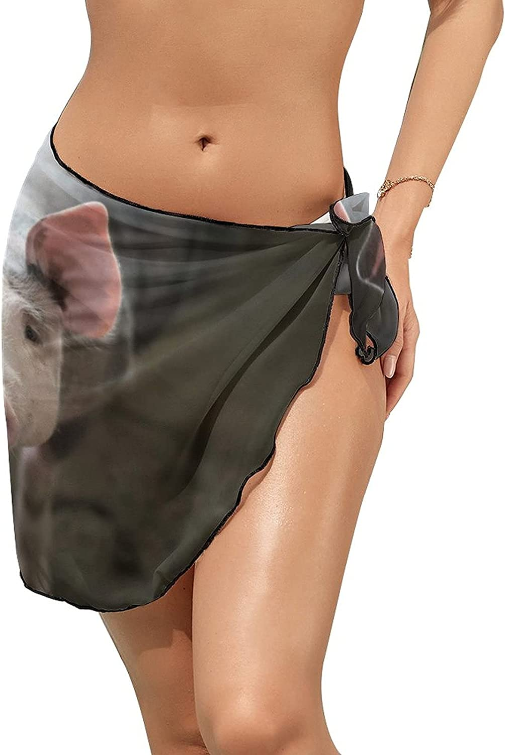 Swimsuit Cover Ups Butterfly Insect Pattern Customed Beach Sarong Bikini Short Skirt Wrap for Women