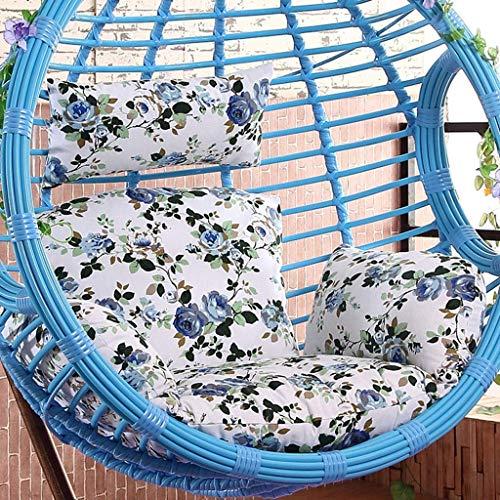 Yuany hangende rotan schommelstoel eivormige stoel pads met armleuning buiten/binnentuin terrasmeubelen, afmetingen: 50 x 56 inch (kleur: E)