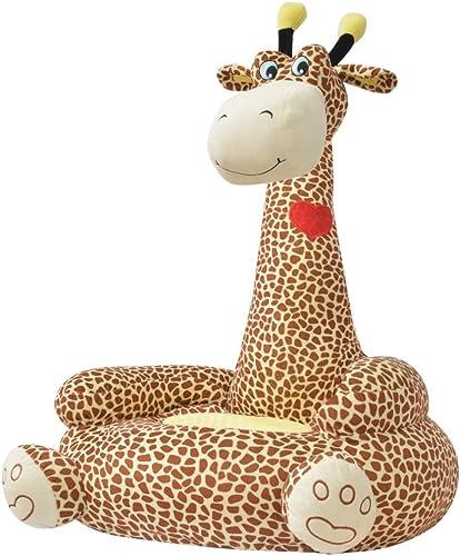 lingjiushopping Plüsch Kinder Stuhl, Giraffe braun Farbe  braun Material  100% Polyester Plüsch + PP Füllung