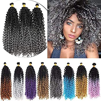 14Inches marlybob crochet hair extensions 3 bundles/pack Water Wave Braiding Hairpiece Afro Jerry Curl Weave Hair Kinky Curly Twist marlibob crochet braids hair extensions  W10