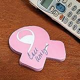 Fun Express - Breast Cancer Ribbon Sticky Notes - Stationery - Notepads - Sticky Note - 12 Pieces