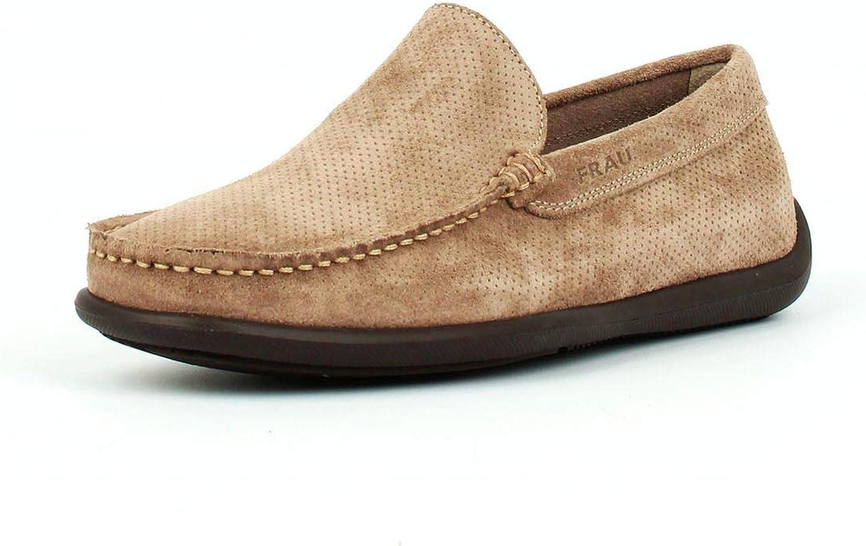 Frau Men's Loafer Flats Beige b