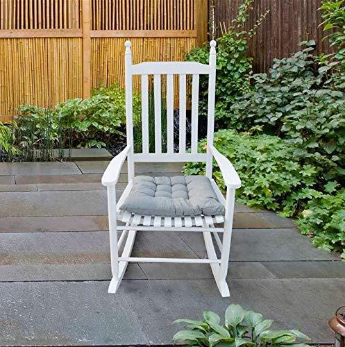 FLing Rocker Chair Porch Rocker WoodenRocking Chair Patio Rocking Chair, White