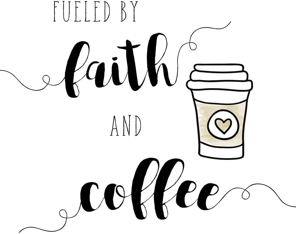 Posterazzi Collection Faith and Coffee Print Mu Amanda Houston Mall Poster All stores are sold by