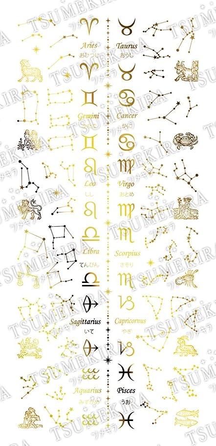 見る人スプーン率直なTSUMEKIRA ネイルシール 星座 ゴールド SG-ZDC-104 アート材