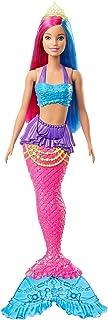 دمية حورية البحر من باربي مع شعر وردي وازرق