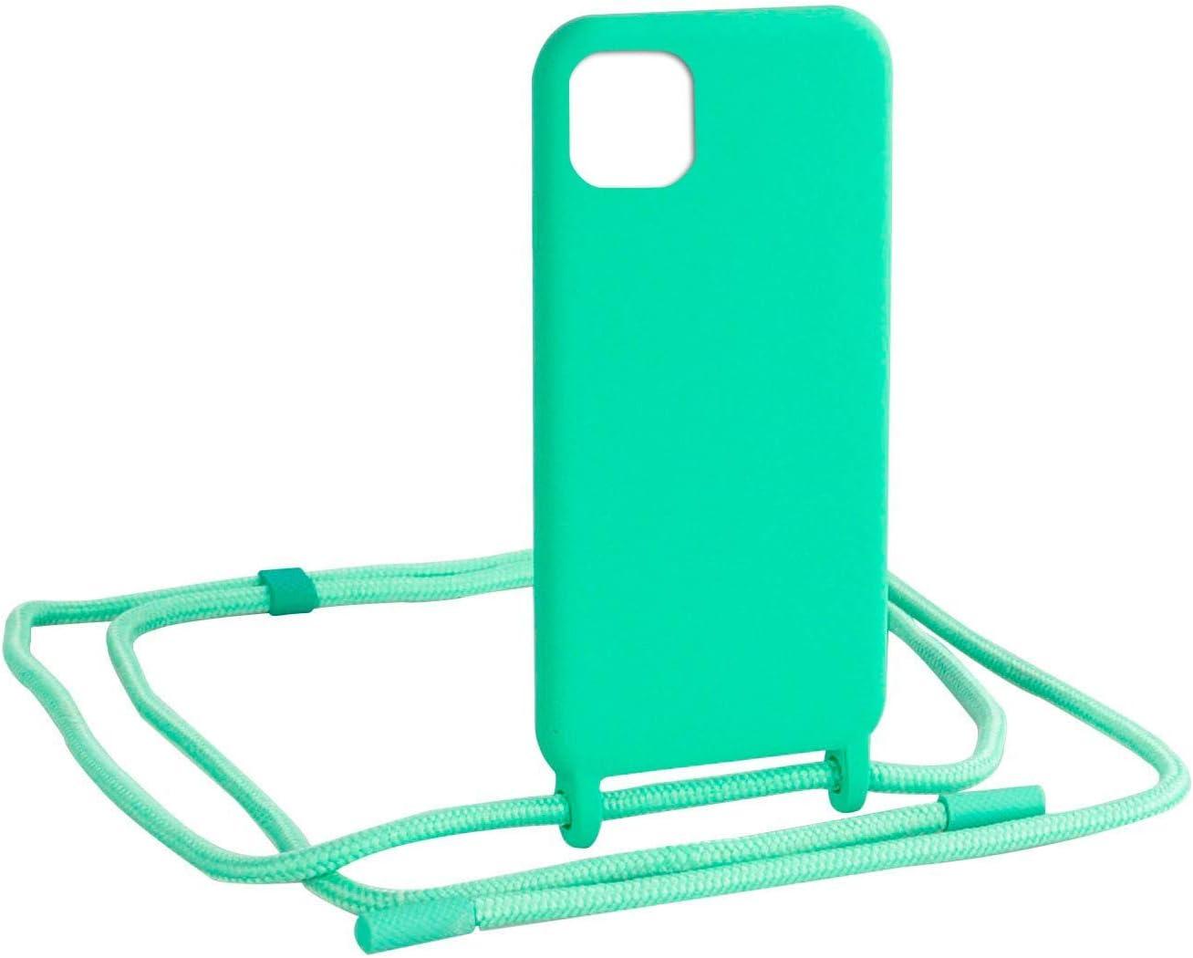 Funda con Colgante de Diseño para iPhone 11 Pro MAX Ultra Suave Verde Menta. Una Funda con Colgante de Diseño móvil Llevar Siempre a Mano tu Dispositivo y protegerlo de Golpes y Roces.