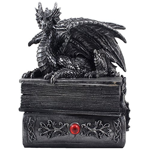 Mythical Guardian Dragon Trinket Box Statue Image