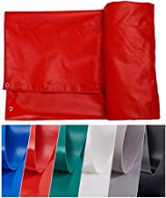 LSXIAO-Tarpaulin Waterproof Tent Sunscreen Truck Cover PVC 0.9MM Thickness Metal Eyelet Outdoor Camping Floor, 6 Colors, 8 Sizes (Color : Red, Size : 2.8x2.8m)