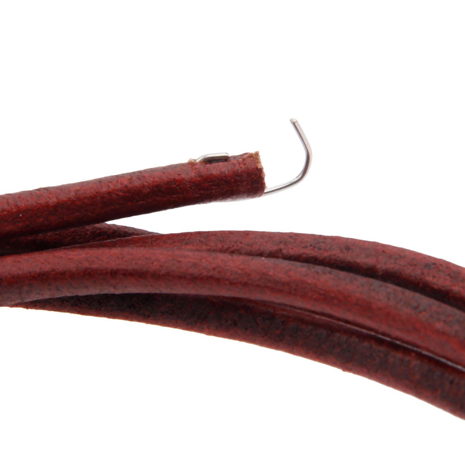 Hicello - Cinturón de piel (183 cm), diseño antiguo con gancho ...