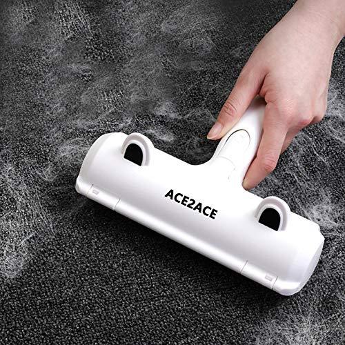 ACE2ACE Quitapelos y Rodillos para Mascotas, Cepillo de Limpieza Removedor de Pelaje para Gatos y Perros, lavable y reutilizable Animales Cepillos Depilación, para alfombras, ropa y sofá