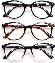 پک 3 تایی عینک مطالعه دارای لولای چرخان مناسب برای خانم ها و آقایان در رنگ های سبز و مشکی