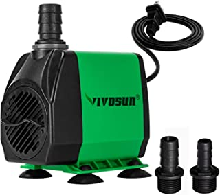 VIVOSUN 800GPH Submersible Pump(3000L/H, 24W), Ultra Quiet Water Pump with 10ft High..