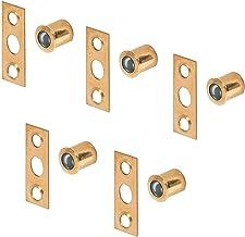 Gedotec Meubelsnapper kogelsnapper Ø 9,5 mm - diepte 10,5 mm deursnapper om in te drukken | staal messing | deursluiting m...