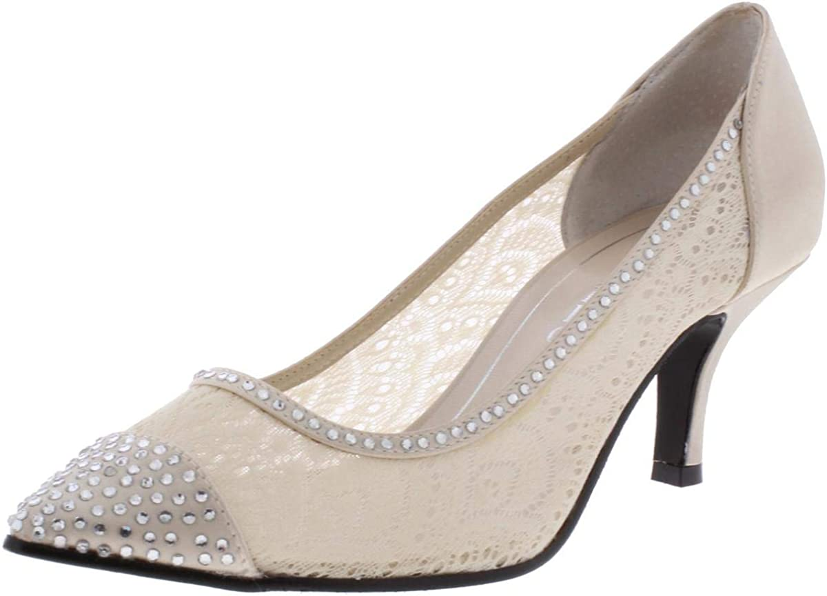 Caparros Womens Satin Fabric D-Orsay Pumps Pointed Toe 新入荷 流行 格安SALEスタート