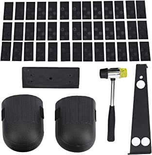 Swetup Laminate Flooring Tools Set, with 40 Spacers, Heavy Duty Pull Bar, Durable Rubber Tapping Block, Double-Faced Malle...