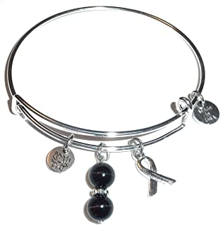 Cancer Awareness (Hope for The Cure) Expandable Wire Women's Bangle Bracelet, Comes in a Gift Box!