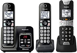 $74 » Panasonic KX-TGD583M DECT 6.0 Digital Waterproof Dustproof Shock-Resistant Automated Call Block Rugged Cordless Phone- 3 H...