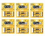 CHAP-ICE Lip Balm, with Peppermint, Beeswax, 12 Sticks