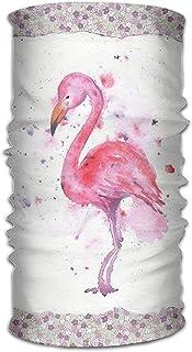 Miedhki Flamingo Print Headwear for Men and Women-Yoga Sports Travel Workout Wide Headbands,Neck Gaiter,Bandana,Helmet Liner,Balaclava,Hair Turban,Scarf Multicolor13