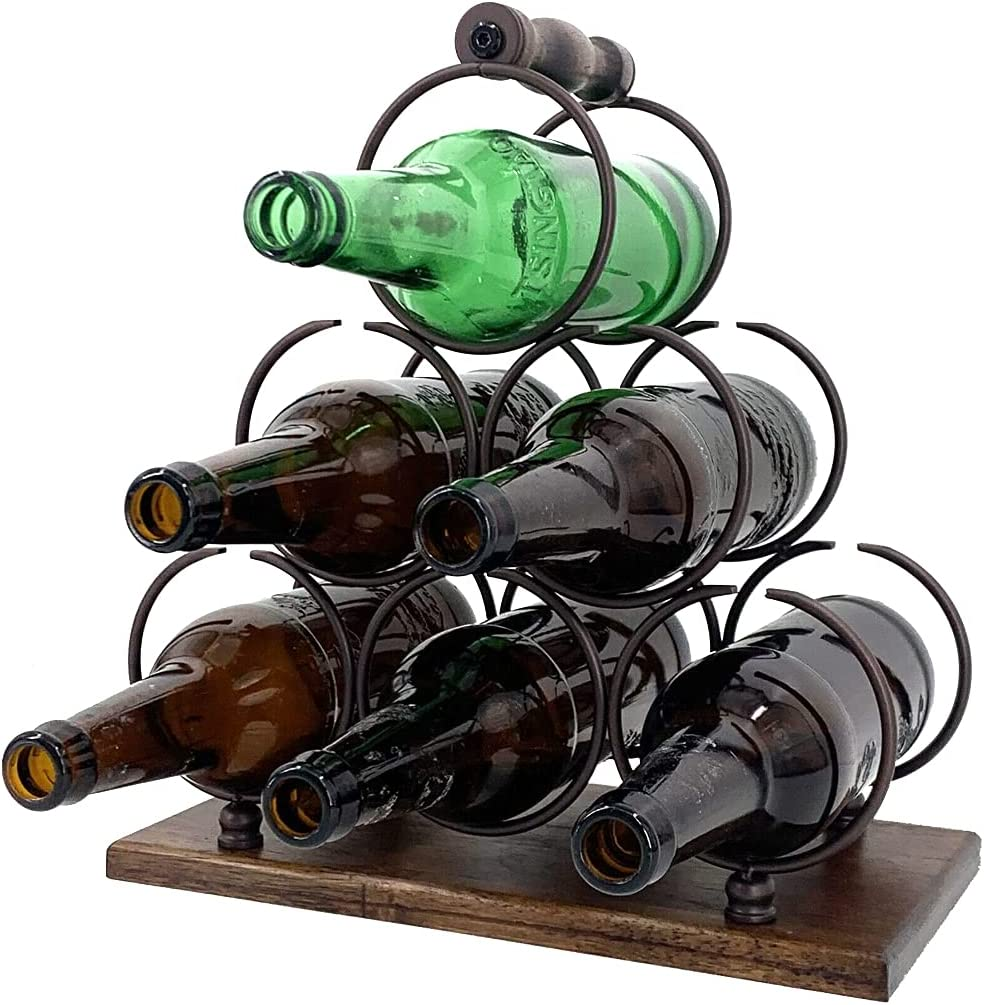 HOTSTORE Wine Wholesale Rack Tabletop 6 Stand Bottle Holder for Max 87% OFF Coun