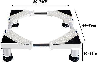 洗濯機 台 ドラム タンブル乾燥機、冷蔵庫、冷凍庫用ステンレススチール製調節可能な洗濯機ベース(オプション) 防音 防振 ( 色 : 4 feet , サイズ さいず : 20-24cm )