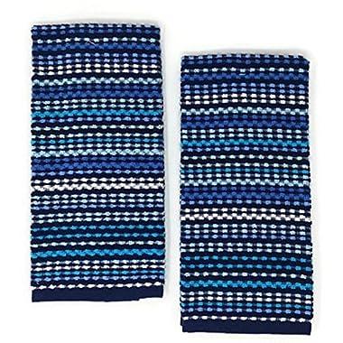 Mainstays Kitchen Towels Blue Set of 2