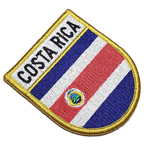 Parche bordado escudo Costa Rica. Tamaño gancho:
