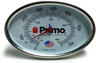 Primo Grills Thermometer for Primo Ceramic Grills - Now 200% Larger and Ability to Calibrate