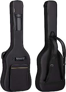 CAHAYA Sac de transport pour guitare basse électrique Sac de transport Gig Bag 0,8 cm rembourré Sac à dos noir rembourré E...
