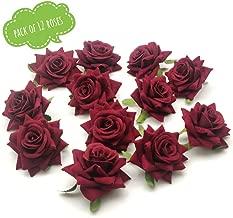 Satyam Kraft Artificial flower For Wedding Box, Hat Decoration,DIY Artificial Garland Supplies (Red Rose 12 Pcs)