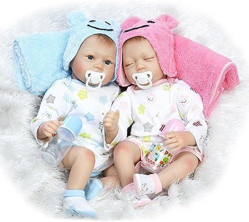 HOOMAI Zwillinge Babys Reborn Puppe 55cm mädchen Junge lebensecht Toddler silikon Doll Billig Magnetisches Spielzeug