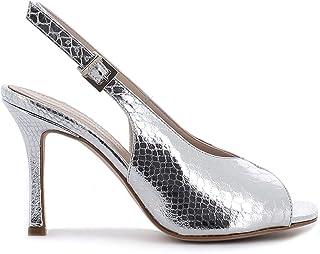 Pierfrancesco Vincenti Sandali pitonati con Tacco a Spillo - Scarpe Donna Made in Italy Colore Argento