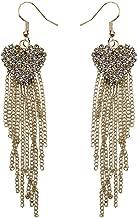 Bravetoshop Earrings for Women Fashion Clearance Tassel Earrings Long Rhinestone Earrings Inlaid Ladies Jewelry Set for Girls Gifts