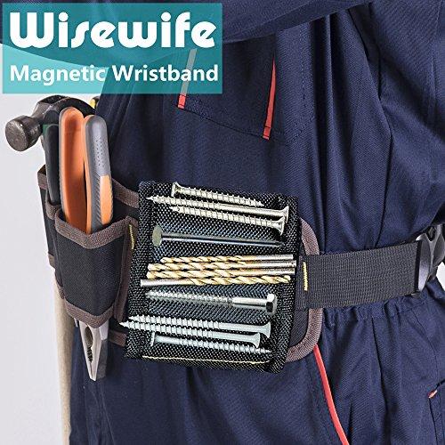 Magnetisches Armband – 15 Magnete für Schrauben, Nägel, Bohrer, Geschenk für Männer, Ihn, Vater, Heimwerker, Elektriker, Ehemann, Freund, Vater, Frauen, Geburtstags-Ideen