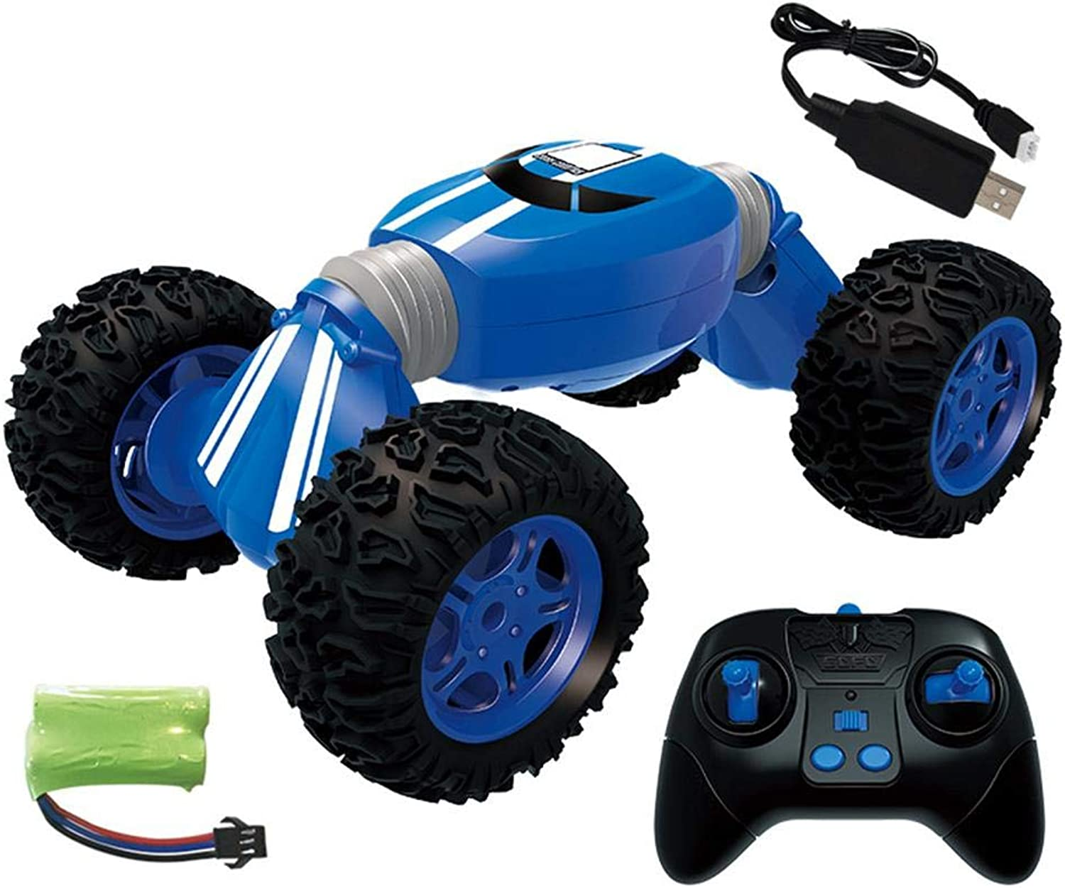 Luckycyc 2.4G Charging RC Stunt Car  Tipping Remote Control Car Offroad Stunt Torque Charging Fourwheel Drive Climbing Car, Reverse High Speed Deformation.