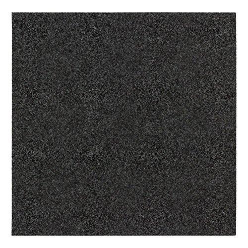 BilligerLuxus Teppichfliese selbstklebend Nadelfilz 25er Set ca. 4m² Filzfliese, Farben:Schwarz