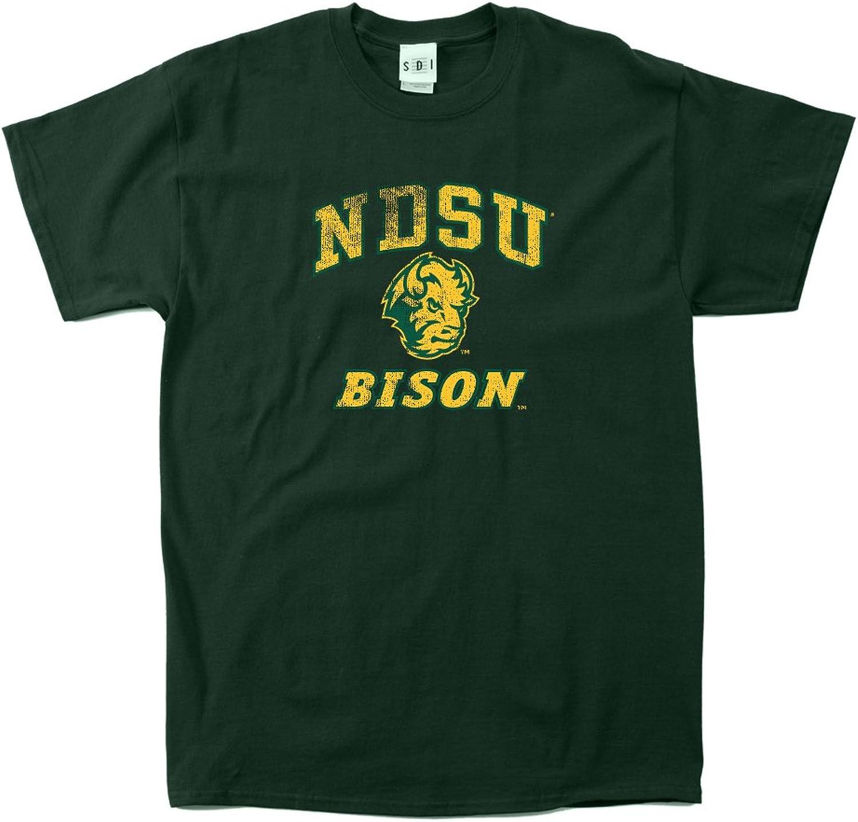 NCAA North Dakota State Bison 100-Percent Pre-Shrunk Vintage Mascot Short Sleeve Tee