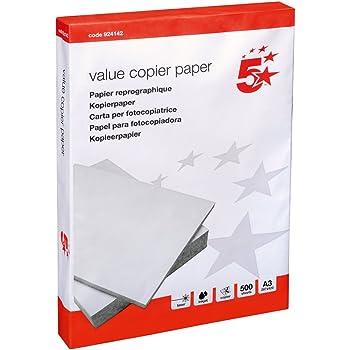 5 Star Papier photocopie Blanc 80g/m² Format A3 500 feuilles