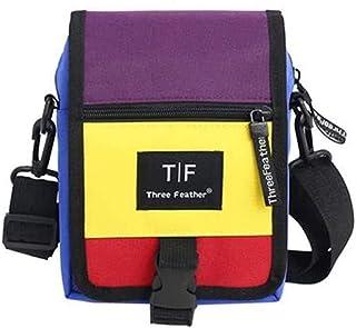 Travel Essential, Stylish and Durable Unisex Color Panel Fashion Crossbody Bag (Color : Purple, Size : 15x3.5x22cm)